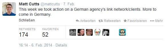 Matt Cutts Twitter german link network